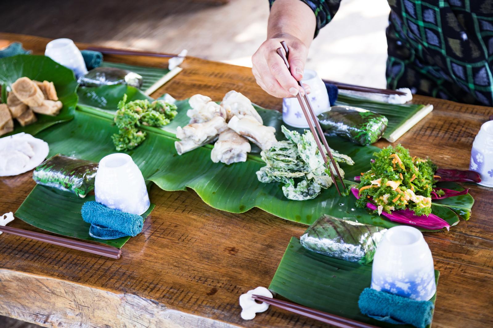 徳之島の犬田布民家(やどぅり)のシマ料理