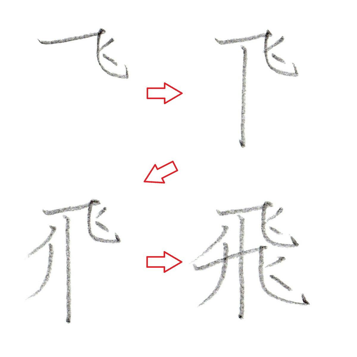 ※漢字『飛』の書き順