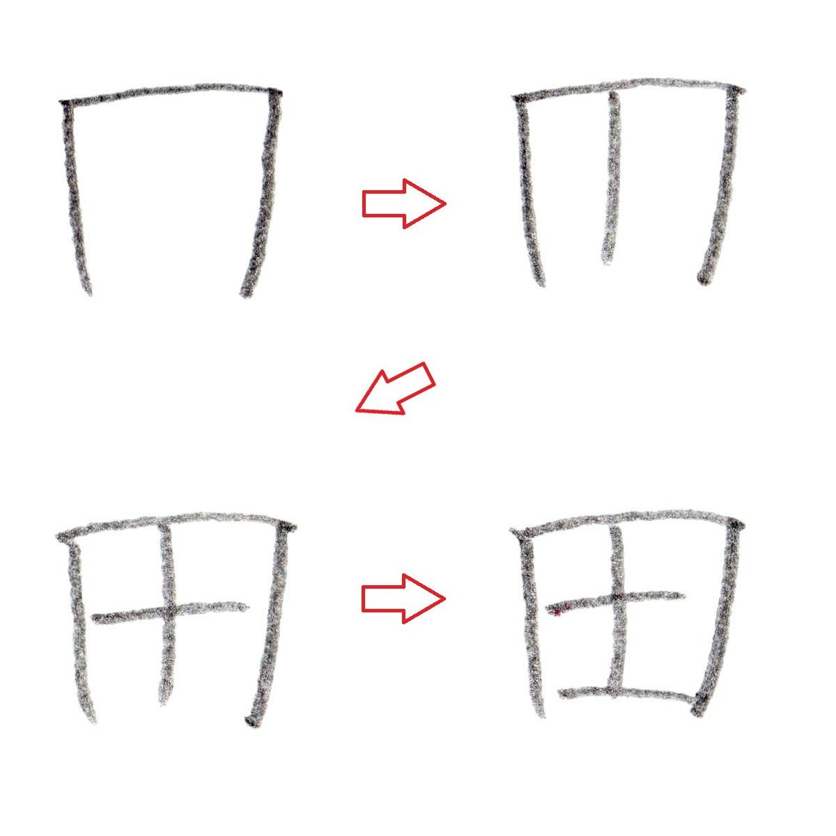 ※漢字『田』の書き順
